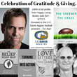 U.C. Davis Aggies Football Teammates Reunite for Happy Living Books' Celebration of Gratitude & Giving.