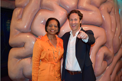 "Melanie Johnson and David Eagleman at ""The Secret Lives of the Brain"""