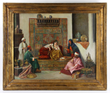 19th C. Orientalist Painting of Interior Scene, Oil