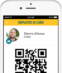 Generate virtual ID Cards for Contractors and Suppliers