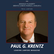 Aurora Attorney Paul Krentz Recognized in Leading Lawyers Magazine
