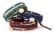 "Zazen Bear's ""Seoul"" bracelets are available in ten different colors with a ""Peace of Mind"" charm."