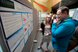 Student explains research at Husson University's 2016 Research and Scholarship Day