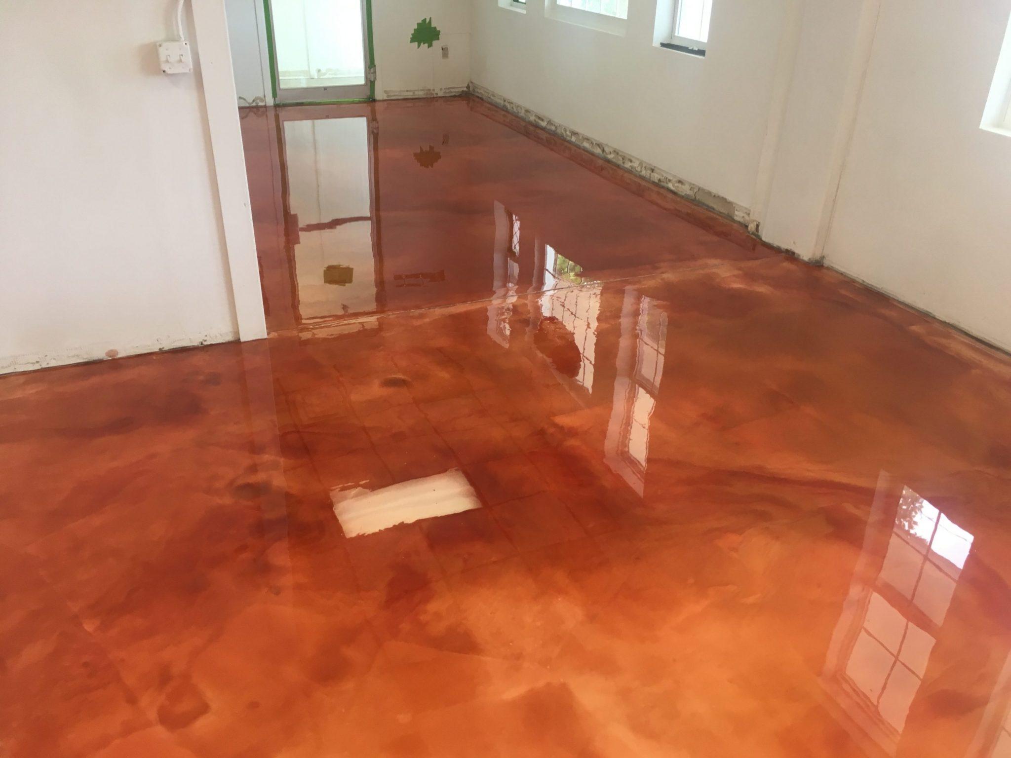 Metallic 3d floor setting a new trend in 2017 surecrete for New floor