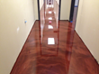 Large Office Concrete Epoxy Metallic Floor High Gloss