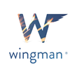 Wingman App Logo; Wingman is available in the iTunes App Store