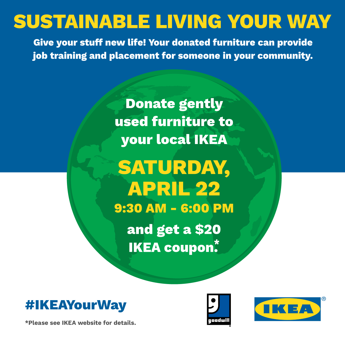 Ikea us and goodwill industries international partner for Ikea conshohocken pennsylvania