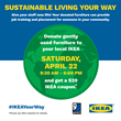 IKEA US and Goodwill Industries International Partner Together to Host their First National 'Furniture Take Back' Activity to be Held April 22nd at Most IKEA US Stores