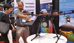The latest in drone technology was among applications on display in the 2017 SPIE Defense and Commerical Expo.