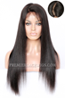 "DFW01 Indian Remy Hair Natural Color 20inches Light Yaki,4.5"" Super Deep C Side Part Lace Front Wigs"