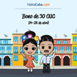 After-Easter deal for Cuban expats: 30 CUC bonus for international top ups sent cu Cuba, from HablaCuba.com