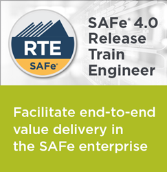 New SAFe 4.0 Release Train Engineer course with RTE Certification