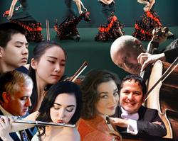 InterHarmony Concert Series Presents: Flamenco, Tango, and Jazz: Misha Quint, cello; Washington Garcia, piano; Eduard Laurel, piano; Anya Fidelia, soprano; Elyse Davis, flute; Sicong Chen, violin; Jingting Liu, violin