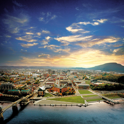 View of the Chattanooga Riverfront and Downtown area