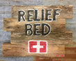 Relief Bed Sign Created by Founders Daughter.