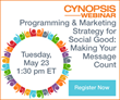 Cynopsis Announces Webinar Focused on Social Good Programming & Marketing Strategy