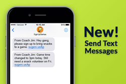 Pro subscribers can now communicate with text messaging
