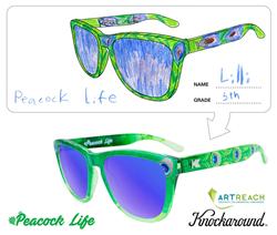 Peacock Life—Student Designed Sunglasses