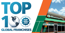 Minuteman Press International Makes Franchise Direct Top 100 Global Franchises for 2017 List - learn more about Minuteman Press franchise opportunities and access Minuteman Press franchise reviews at http://www.minutemanpressfranchise.com