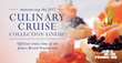 Windstar Cruises and the James Beard Foundation Announce Super-Star Chef Lineup for New Culinary Cruise Collection