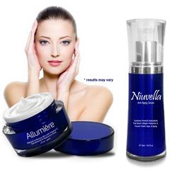 Allumière Antiaging Cream and Niuvella Antiaging Serum by Nova Skin Sciences