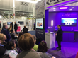 AORN attendees gather to hear Lynnelle Murrell discuss the success of using Indigo-Clean Continuous Environmental Disinfection at Maury Regional Medical Center.