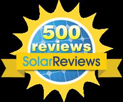 SolarReviews.com 500 Reviews Banner
