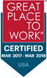 For Second Consecutive Year HRMS Solutions Awarded Great Place to Work Certification