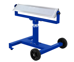 mobile LED light stand with wheels