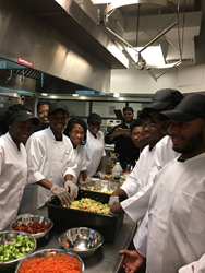 Chester High Culinary Arts Students Prepare Healthy Food for Families