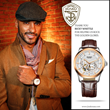 Ricky Whittle with watch
