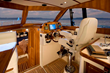A joy to operate, the pilot house is comfortable for the captain and guests, plus sleeps two in a pinch.