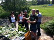 Foragers at Green Heron Growers gather round to learn about edible plants commonly found in Chautauqua County, NY