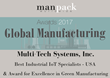 "MultiTech Wins ""Best Industrial IoT Specialists in the United States"" and ""Award for Excellence in Green Manufacturing"" by ManPack Worldwide Magazine"
