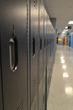 The school's new lockers from Scranton Products in a sophisticated black color are durable and easy to clean.