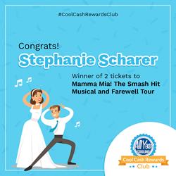 April Cool Cash Rewards Club Winner Stephanie Scharer