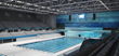 Ready for FINA: A completed Dagály Aquatic Center shows how massive the project was: a 19,000 m2 (204,500 square feet) footprint with two spectator areas each adding 2,000 m2 (21,500 square feet).