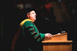 Dr. Robert A. Clark, president of Husson University at the 117th annual commencement exercises.