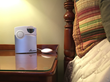 An optional bed shaker will shake you awake.