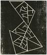 Jean Arp original woodcut