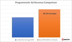 Programmatic Ad Revenue Increase Within 12 Weeks - Adnimation