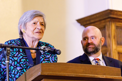 Madame Jerome Lejeune and Mr. Carter Snead, the Director of the Notre Dame Center for Ethics and Culture