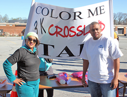 Andrews Federal's Tameyka Whitney and Tim Blue were on hand to help add a little color to the participants during the event.