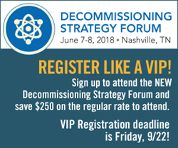 2018 Decommissioning Strategy Forum