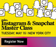 min's Master Class on Instagram & Snapchat To Be Held in New York City on Tuesday, May 16