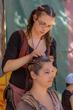 Hair Braiding at the Renaissance Pleasure Faire