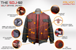 """Falyon Wearable Tech Launches """"Back to the Future""""-inspired Self-Drying Jacket, The SDJ-02, on Kickstarter"""