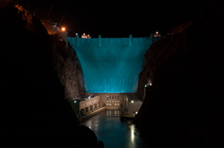 Hoover Dam Illuminated Turquoise #LUNG FORCE