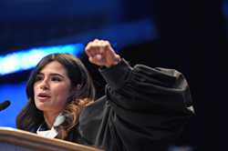 Actor Diane Guerrero speaks to SLCC's largest graduating class in school history.