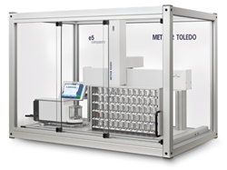The e_Line tabletop robotic mass comparator is ideal as the first step to automating  your weight calibration workflow.